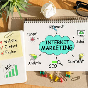 Internet marketing list with SEO  Target research sales analysis content website content engine